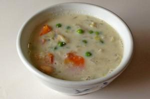 大豆と野菜の豆乳入りスープ