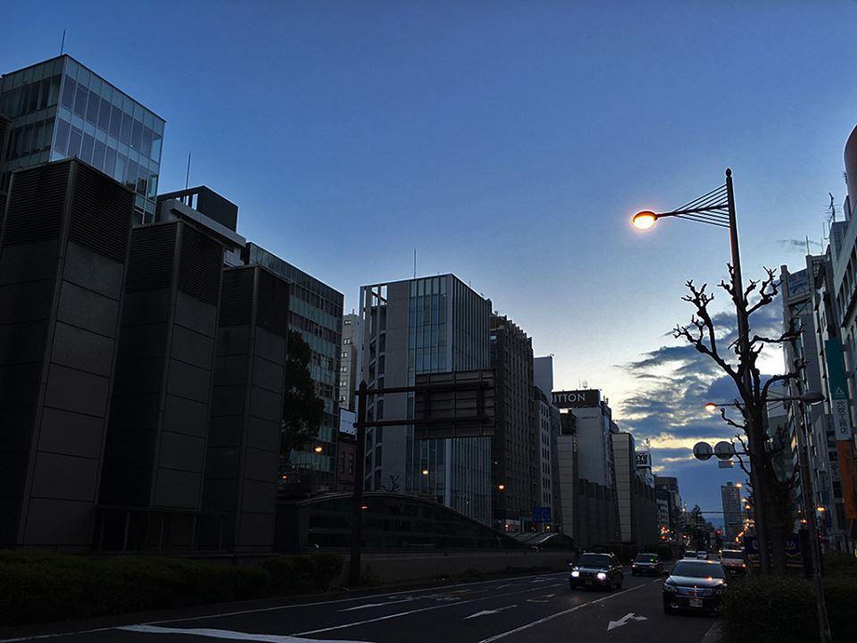 2015/12/31早朝の長堀通り